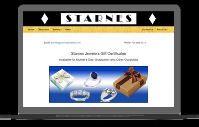 Retailer website on a laptop