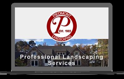 Services website on a laptop