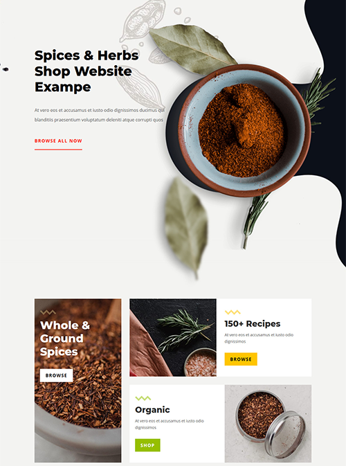 Spice shop retail website